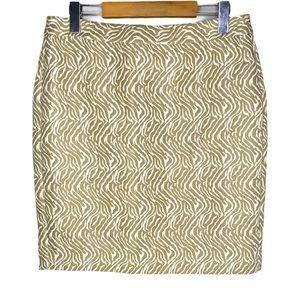 Banana Republic Tan Zebra Print Mini A Line Skirt